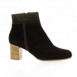 Brenda zaro Boots cuir velours marron