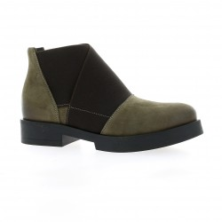 Nuova riviera Boots cuir nubuck taupe