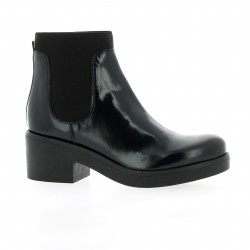 Nuova riviera Boots cuir glacé marine
