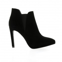 Nuova riviera Low boots cuir velours noir