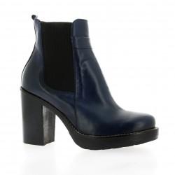 Donna piu Boots cuir marine
