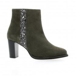 Impact Boots cuir velours gris