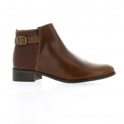 So send Boots cuir cognac