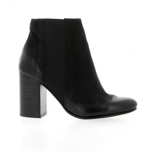 Reqins Boots cuir nubuck noir