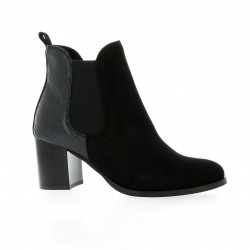 We do Boots cuir velours noir