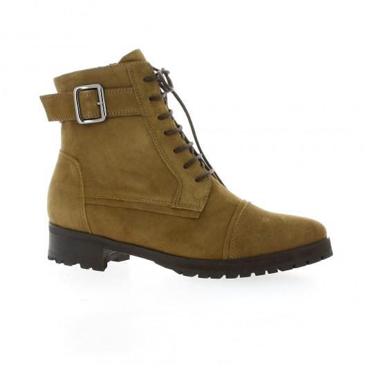 Vidi studio Boots cuir velours taupe