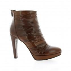 Dénouée Boots cuir marron