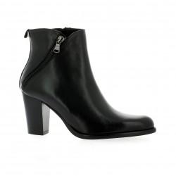 Dénouée Boots cuir noir