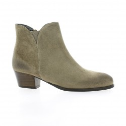 Ambiance Boots cuir velours taupe