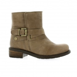 We do Boots cuir taupe
