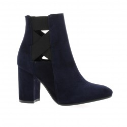 Nuova riviera Boots cuir velours marine