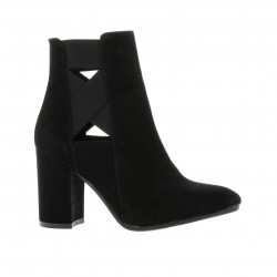 Nuova riviera Boots cuir velours noir