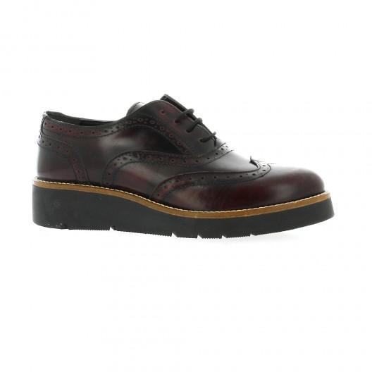 Pao Derby cuir glacé Noir - Chaussures Derbies Femme