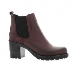 Pao Boots cuir nubuck bordeaux
