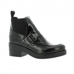 Nuova riviera Boots cuir glacé noir