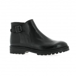 Ambiance Boots cuir noir