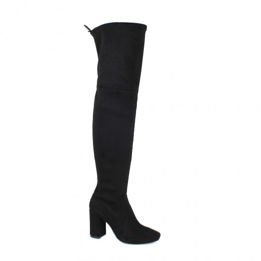 Montantes Pao Cuissardes 18 G850 Stretch Velours Bottes Noir qFw1HE