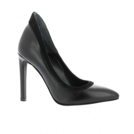Nuova Riviera Escarpins cuir Noir - Chaussures Escarpins Femme