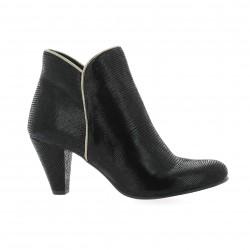 Costa Boots cuir laminé noir