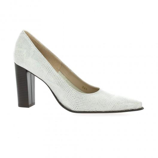 Vidi Studio Escarpins cuir iguane Argent - Chaussures Escarpins Femme