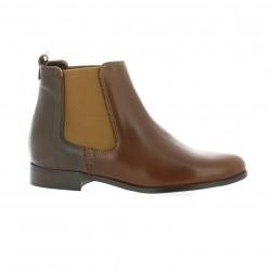 So send Boots cuir python camel