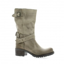 Bottes cuir nubuck taupe Pao