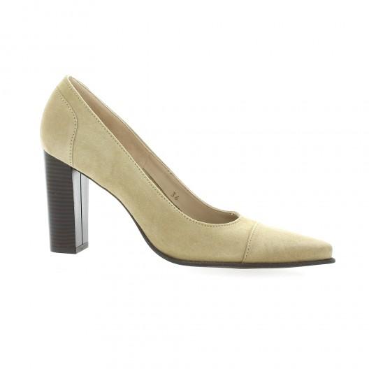 Vidi Studio Escarpins cuir velours  sable Sable - Chaussures Escarpins Femme