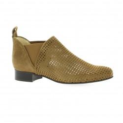 Vidi studio Boots cuir velours vison