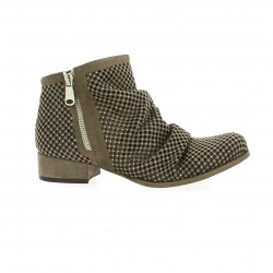 Mimmu Boots cuir velours taupe