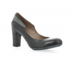 Escarpins cuir noir Minka design