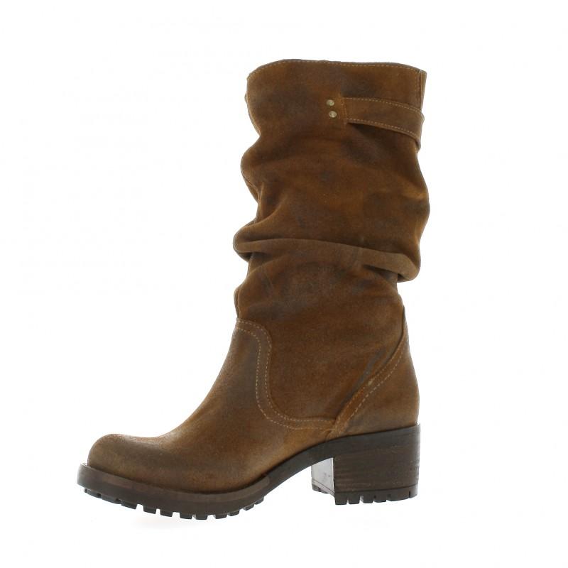 Pao Boots Cuir Velours Noir - 41 RoimQk