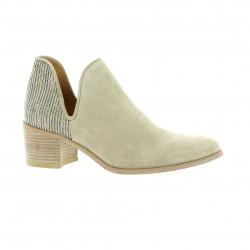 Minka design Boots cuir velours beige