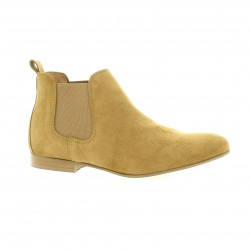 So send Boots cuir velours camel