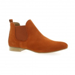 We do Boots cuir velours brique