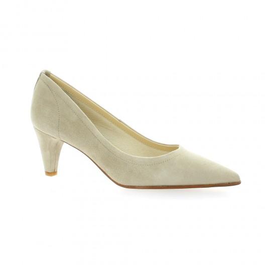 Rabais Dernière Pas Cher 2018 Elizabeth Stuart Chaussures escarpins Escarpins cuir velours sable Vente Discount Pas Cher Mg4tKv