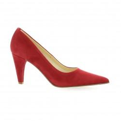 Elizabeth stuart Escarpins cuir velours rouge