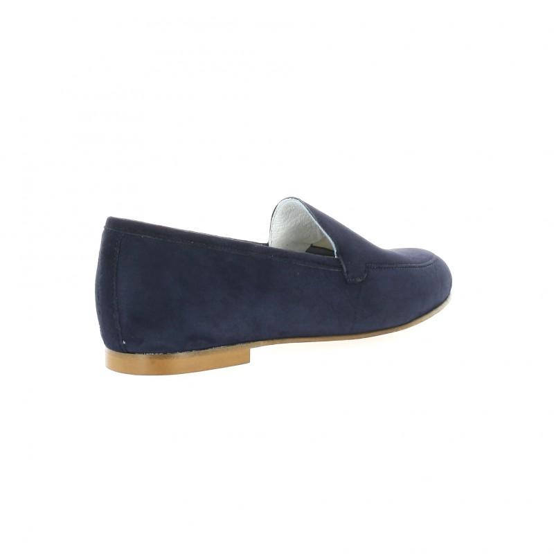 Elizabeth Stuart Mocassins cuir velours Marine - Chaussures Mocassins Femme