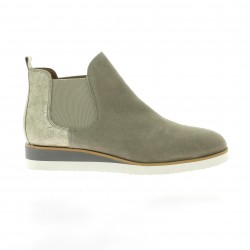 We do Boots cuir velours beige