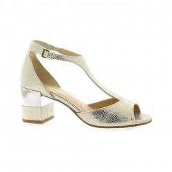 Fremilu Nu pieds cuir laminé beige
