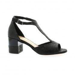 Fremilu Nu pieds cuir laminé noir