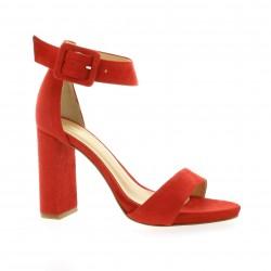 Fremilu Escarpins cuir velours rouge