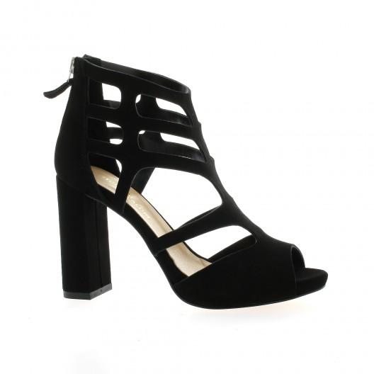Fremilu escarpins cuir velours Noir - Chaussures Escarpins Femme