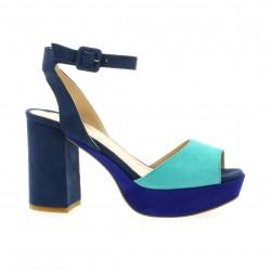 Fremilu Escarpins cuir velours bleu