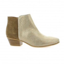 Impact Boots cuir laminé taupe