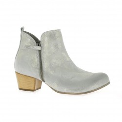 Volpato benito Boots cuir laminé argent