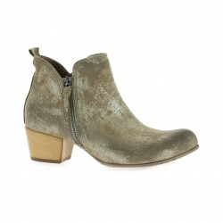 Volpato benito Boots cuir laminé beige