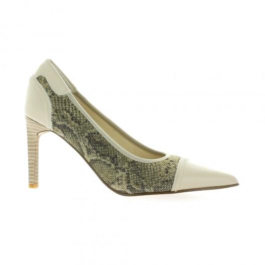 Elizabeth Stuart Escarpins cuir python  sable Sable - Chaussures Escarpins Femme