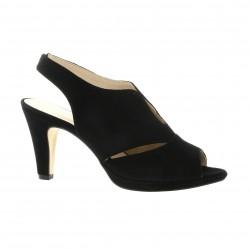 Costa Nu pieds cuir velours noir
