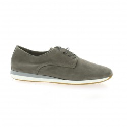 Pao Derby cuir velours gris