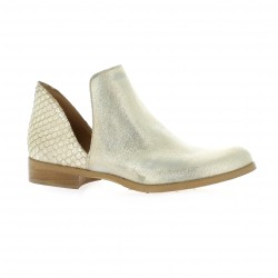 Pao Boots cuir laminé or